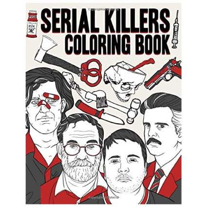 Serial Killers Adult Coloring Book