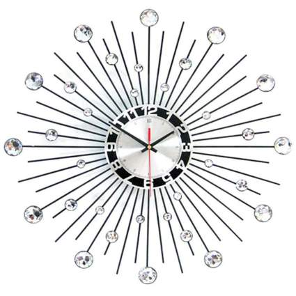 crystal studded starburst clock