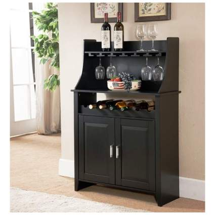 wine rack and buffet server