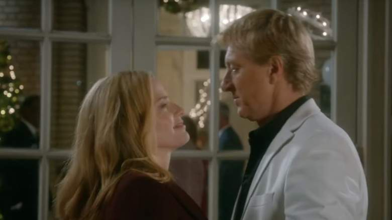 Ali (Elisabeth Shue) and Johnny (William Zabka) say goodbye in Season 3, Episode 10.