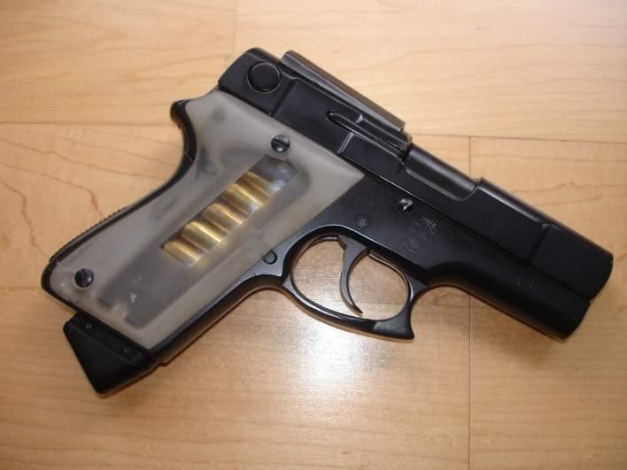 An ASP handgun designed by Paris Theodore