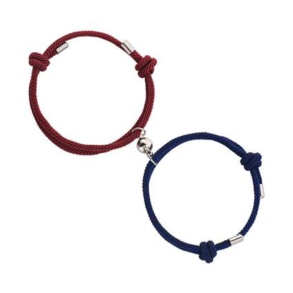 blue and red magnetic bracelets