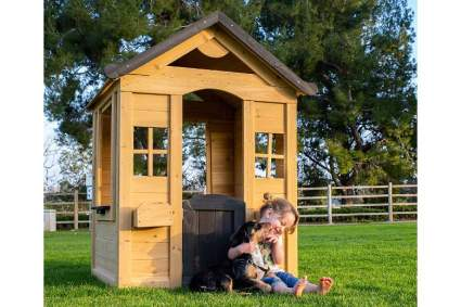 Be Mindful Solid Wood Outdoor Playhouse