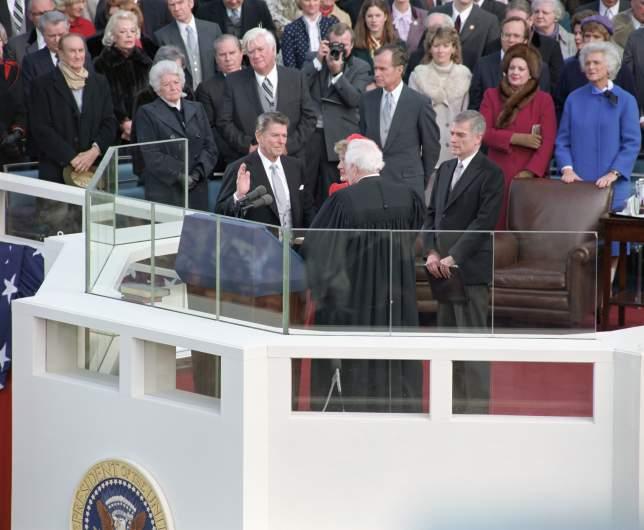 reagan inauguration