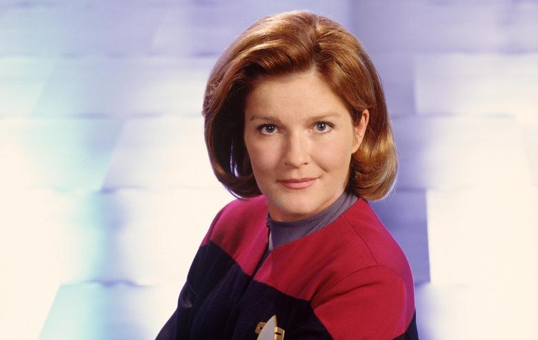 "Kate Mulgrew stars as Captain Kathryn Janeway in ""Star Trek: Voyager."""