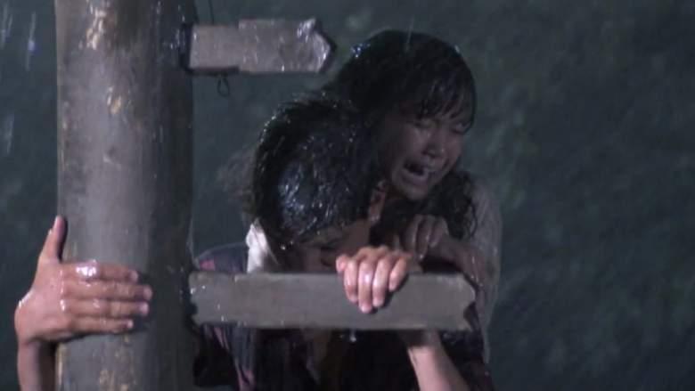 Daniel (Ralph Macchio) rescues Yuna (Traci Toguchi) in 'The Karate Kid Part II.'