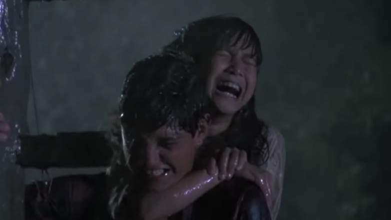 Daniel (Ralph Macchio) rescues Yuna ((Traci Toguchi).