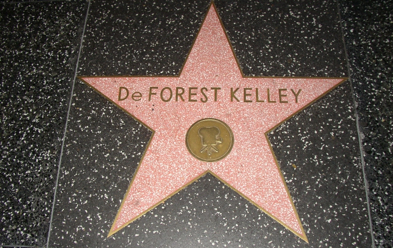 DeForest Kelley's Walk of Fame star.