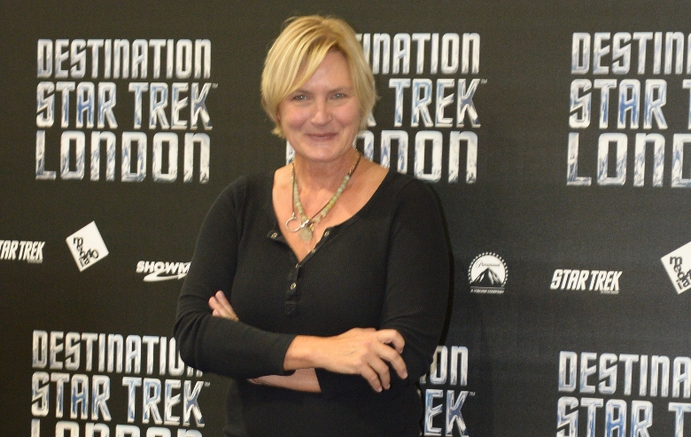 Denise Crosby attends a photocall at Destination Star Trek London at ExCel on October 19, 2012 in London, England.