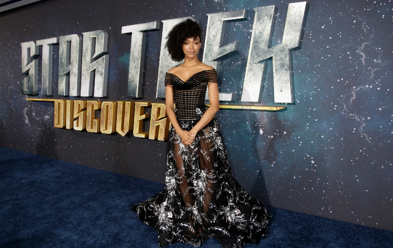 Actress Sonequa Martin-Green arrives on the Red Carpet for the STAR TREK: DISCOVERY premiere event
