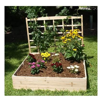 raised planter box with trellis