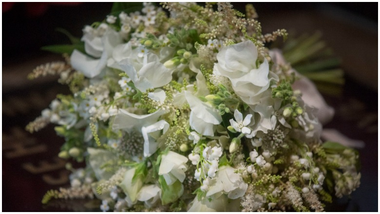 A bouquet of flowers from the royal wedding.