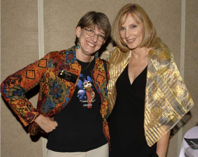 """Puppet operator/actress Karen Prell and choreography director Cheryl Gates McFadden attend a special 20th anniversary screening of """"Labyrinth"""""""