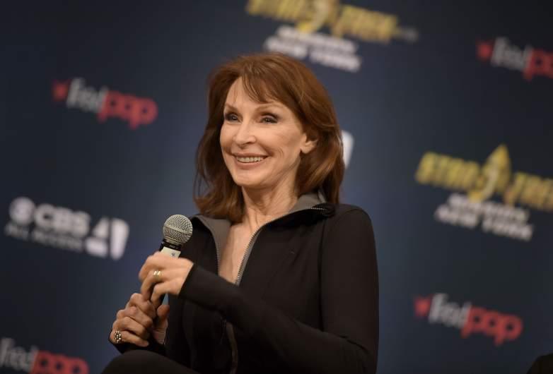 Gates McFadden speaks during the Star Trek: Mission New York event at Javits Center on September 3, 2016 in New York City