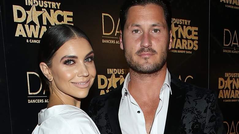 Jenna Johnson (L) and Valentin Chmerkovskiy attend the 2018 Industry Dance Awards at Avalon Hollywood