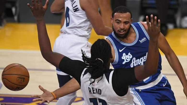 Talen Horton-Tucker, right, Lakers