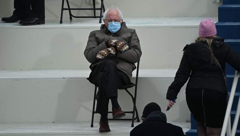 Bernie's inauguration mittens