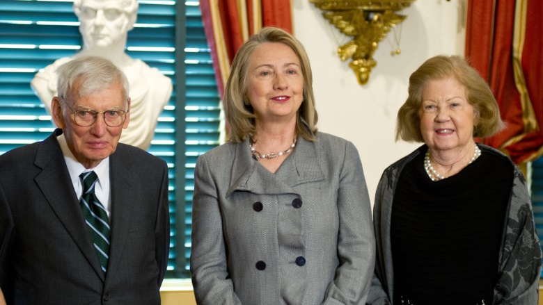 Dan and Patricia Rooney With Hillary Clinton