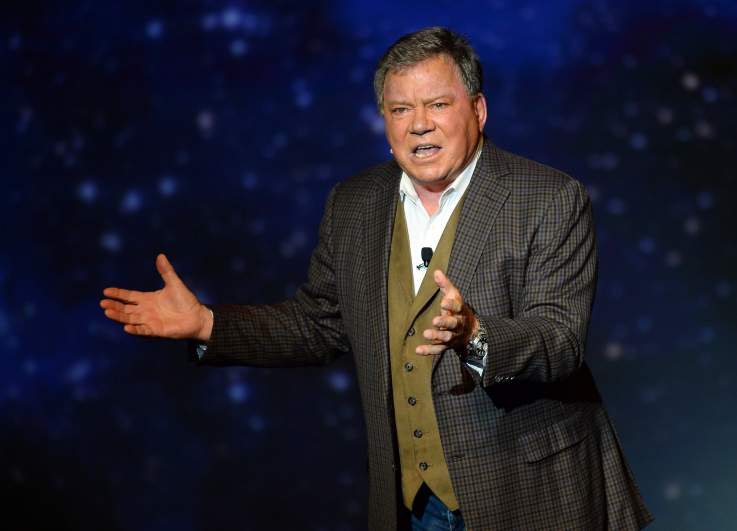 "William Shatner performs during his one-man show, ""Shatner's World: We Just Live In It"" at the MGM Grand Hotel/Casino on June 19, 2014 in as Vegas, Nevada."
