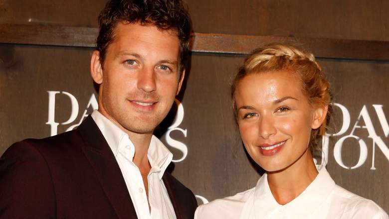 Tristan MacManus and Tahyna Tozzi arrive at the David Jones A/W 2014 Collection Launch