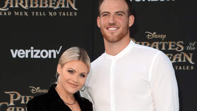 "Dancer Witney Carson and Carson McAllister attend the premiere of Disney's ""Pirates Of The Caribbean: Dead Men Tell No Tales"""