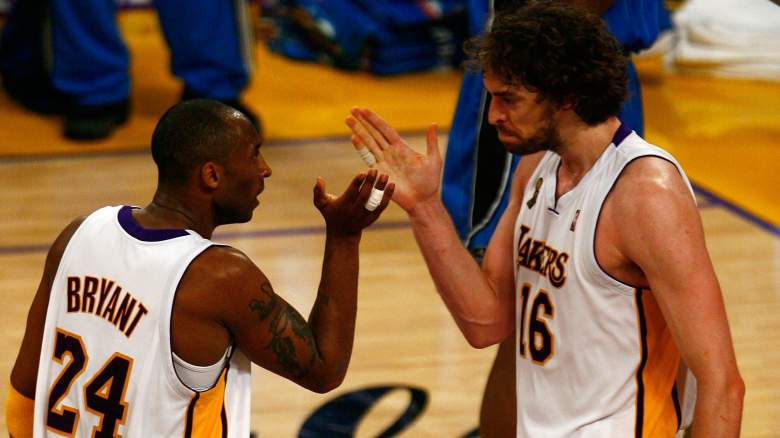Lakers Kobe Bryant, left, and Pau Gasol in the 2009 NBA Finals
