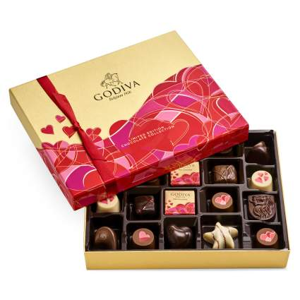 Valentine's Day Godiva chocolate box