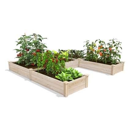 u-shaped raised garden boxes