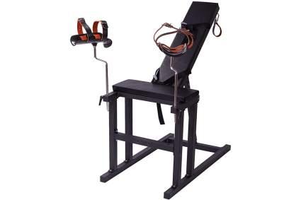 Black torture rack chair