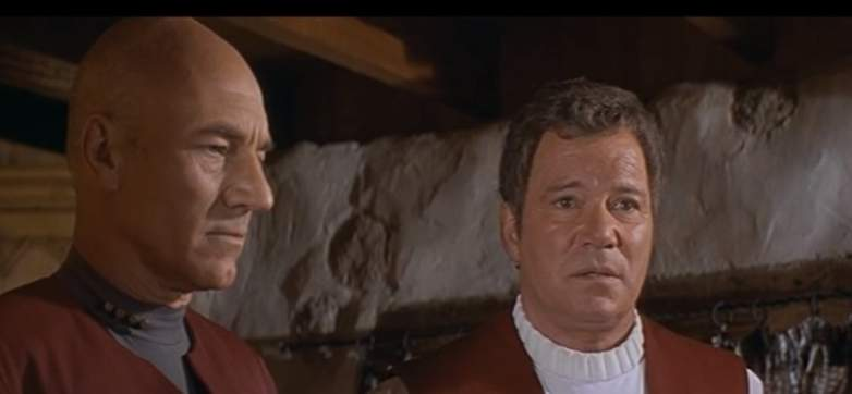 Kirk and Picard in Star Trek: Generations