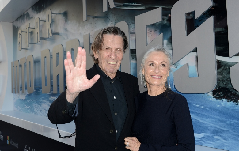 """Actor Leonard Nimoy (L) and wife Susan Bay arrive at the Premiere of Paramount Pictures' """"Star Trek Into Darkness"""" at Dolby Theatre on May 14, 2013 in Hollywood, California."""
