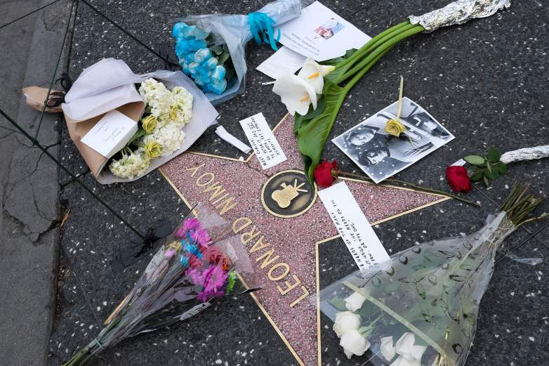 Actor Leonard Nimoy is remembered on the Hollywood Walk of Fame