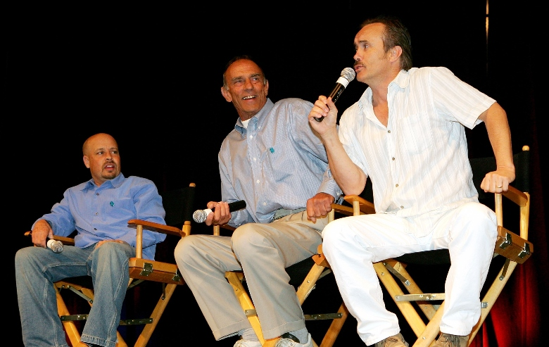 "Actors from ""Star Trek: Deep Space Nine"" (L-R) Aron Eisenberg, Marc Alaimo and Jeffrey Combs, talk at the fifth annual official Star Trek convention"