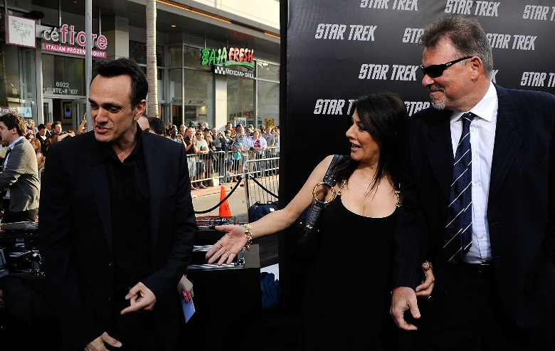 "Hank Azaria Marina Sirtis and Jonathan Frakes arrive at the Premiere Of Paramount's ""Star Trek"" on April 30, 2009 at Grauman�s Chinese Theatre, Hollywood, California."