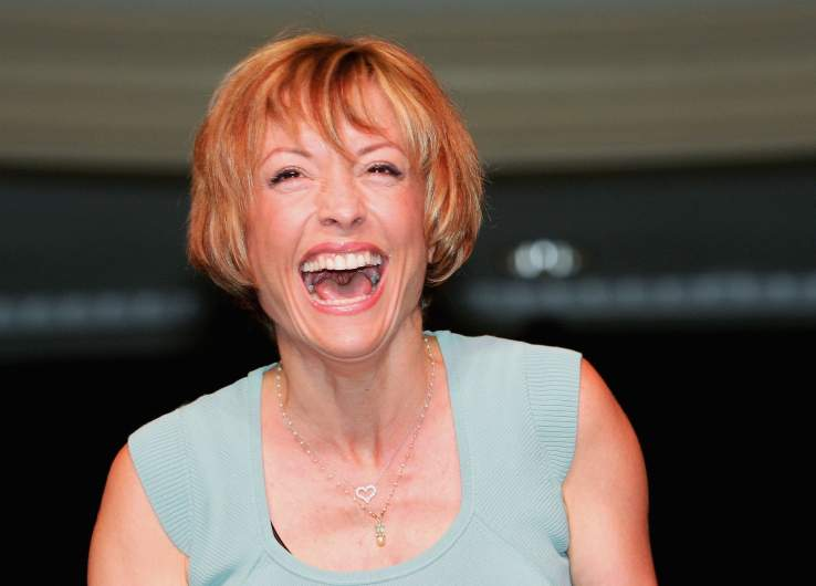 "Actress Nana Visitor, who played the character Kira Nerys on the television series ""Star Trek: Deep Space Nine,"" laughs during her appearance at the Star Trek convention at the Las Vegas Hilton August 14, 2005 in Las Vegas, Nevada."