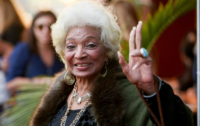 """Actress Nichelle Nichols arrives at the premiere of Neon's """"Colossal"""" at the Vista Theatre"""