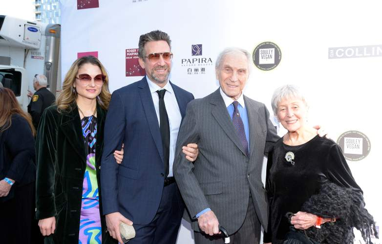 Peter Mark Richman (2nd from R) and guests attends the 4th annual Roger Neal Oscar Viewing Dinner Icon Awards and after party at Hollywood Palladium