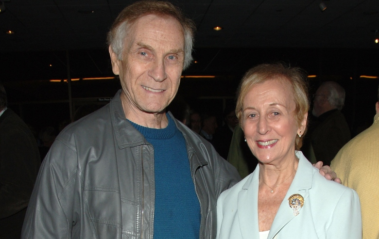 """Actor Peter Mark Richman and wife Helen Richman attend AMPAS presents the premiere of the restored 3D classic """"Hondo"""" at the Samuel Goldwyn Theater"""