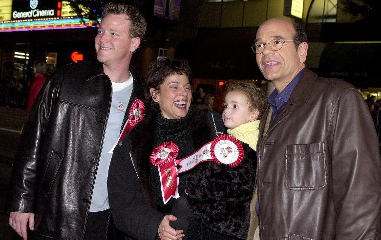 Robert Duncan McNeill, Roxann Dawson, her daughter Emma, and Robert Picardo arrive at the Hollywood Christmas Parade