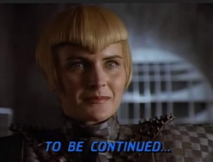 Tasha Yar as the Romulan Sela in Star Trek: The Next Generation