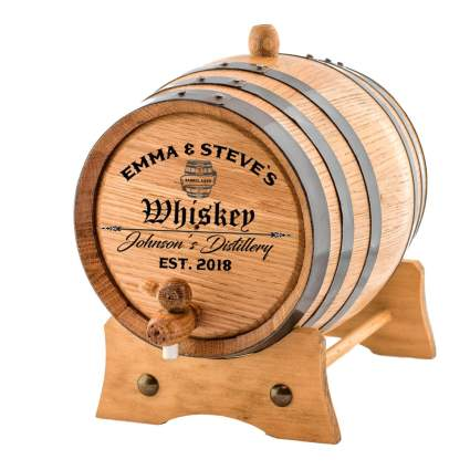 Small whiskey aging barrel