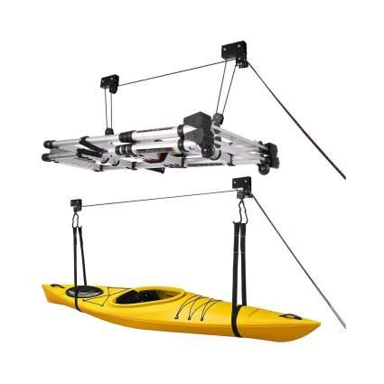 VIVOHOME Heavy Duty Ceiling Mount Kayak Canoe Garage Hoists (2 Pack)