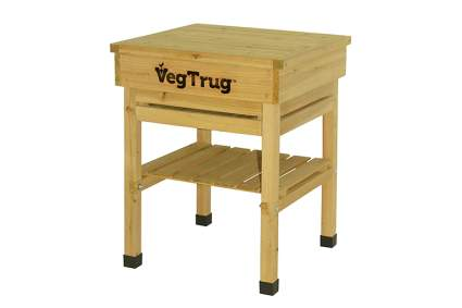 kid size wood potting bench