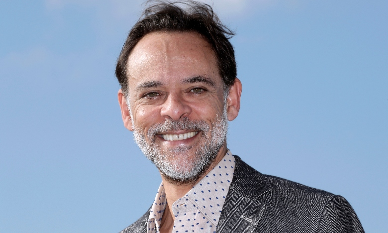 """British actor Alexander Siddig poses during a photocall for the TV serie """"The Kennedys : after Camelot"""" as part of the MIPCOM"""