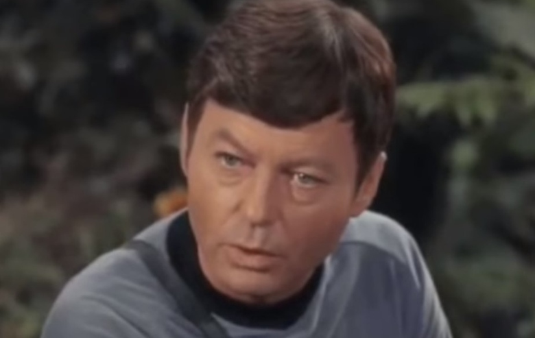 "DeForest Kelley as Dr. Leonard ""Bones"" McCoy"
