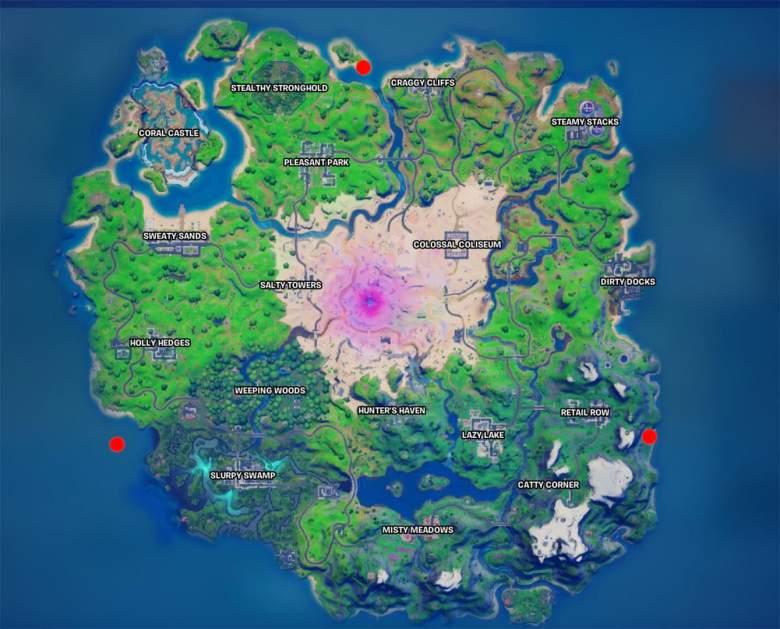 fortnite bunker locations