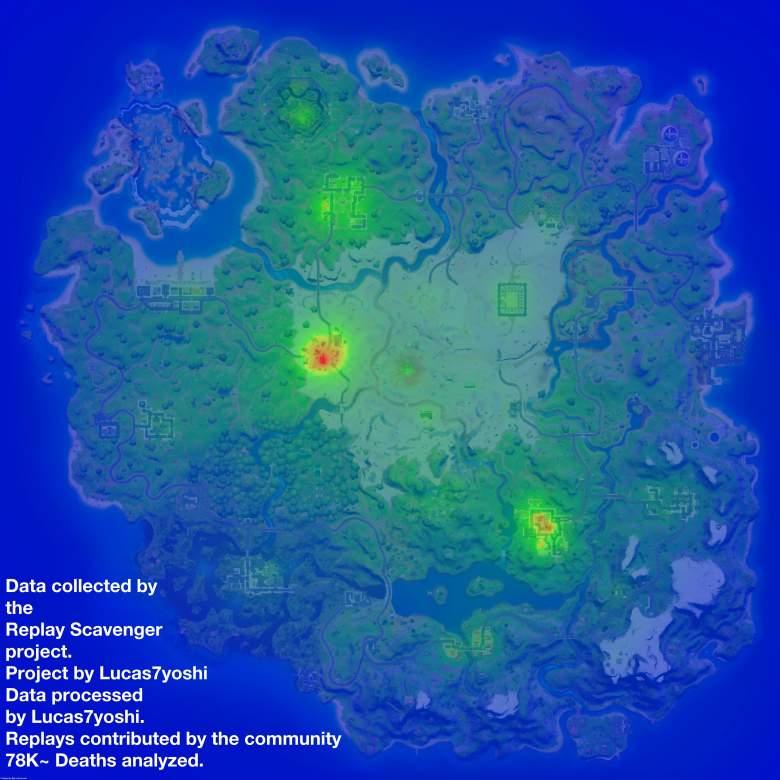 fortnite death map