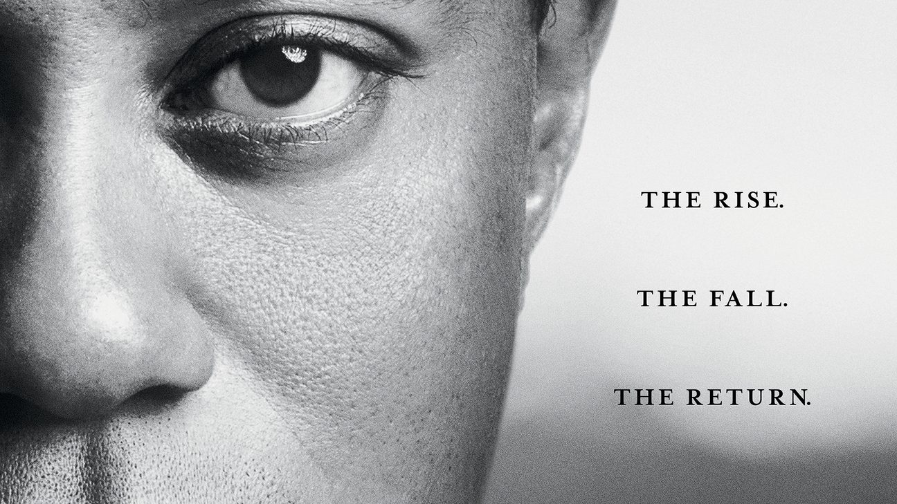 Key art for the HBO Tiger Woods documentary