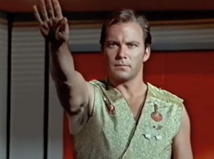 William Shatner as James Tiberius Kirk in the Mirror Universe