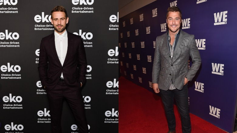 Nick Viall and Chris Soules on respective red carpets.